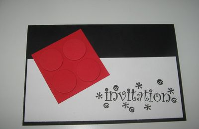 Carte invitation Légo