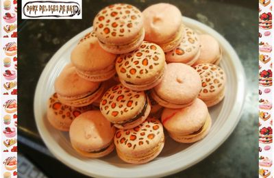 Macarons léopards :