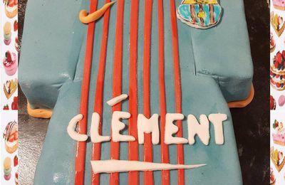 Gâteau tee shirt FC Barcelone :