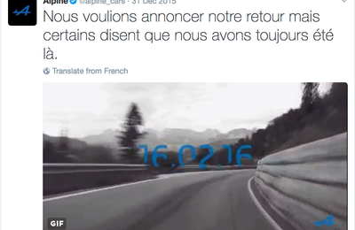 Quand Alpine fait son come back...