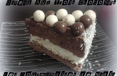 GÂTEAU AUX TROIS CHOCOLATS