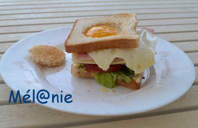 Club sandwich à l'oeuf