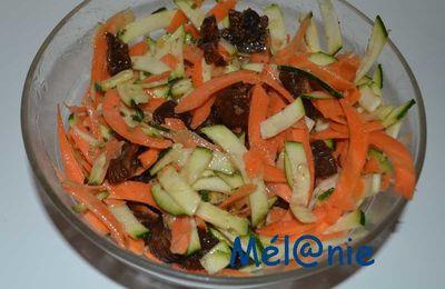 carottes et courgettes râpées aux épices