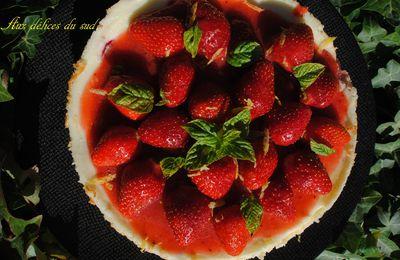 Cheesecake aux fraises et citron .