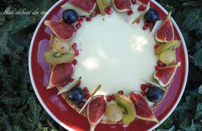 Tarte au cheesecake et fruits d'automne :