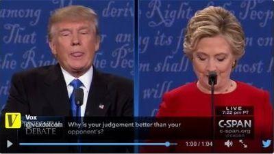 Premier débat TV, et déjà Trump tire la langue