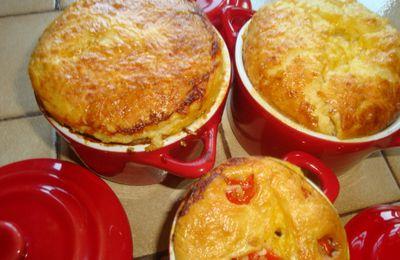 petites crèmes de parmesan aux tomates rôties du jardin