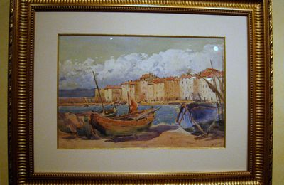 Le port de  Saint-Tropez, tableau de Georges William Thornley