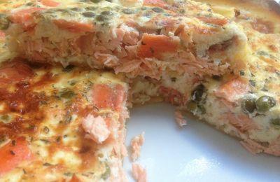 Tarte saumon, Saint Moret, petit pois !