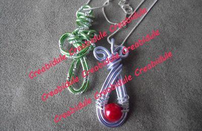 "Pendentif Vert ""collection printemps"""