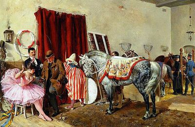 """Au cirque"" d'Ottokar Walter (1853-1904)"