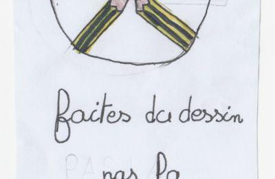 Faites des dessins, pas la guerre ! Un dessin de Rosalie (6°2)