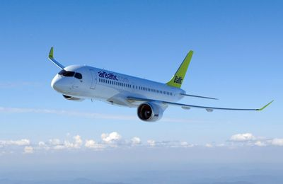 Bombardier retrouve des couleurs et de l'espoir grace à Air Baltic