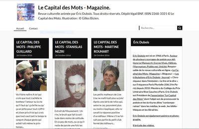 LE CAPITAL DES MOTS MAGAZINE A DIX ANS  !