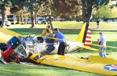 Harrison Ford blessé dans un accident d'avion !