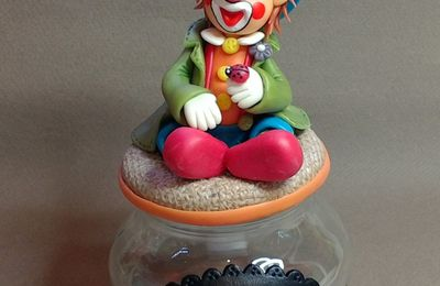 "Kit de modelage ""Clown"" en porcelaine froide"
