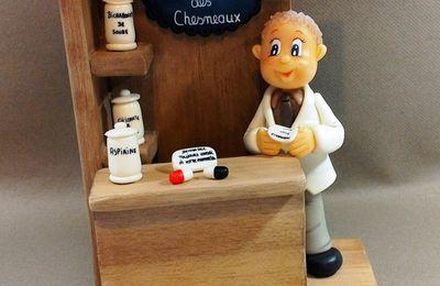 Comptoir avec Pharmacien en porcelaine froide