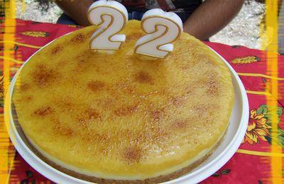 Gateau façon cheese cake sans cuisson à la crème aux oeufs brulée (recette espagnole)