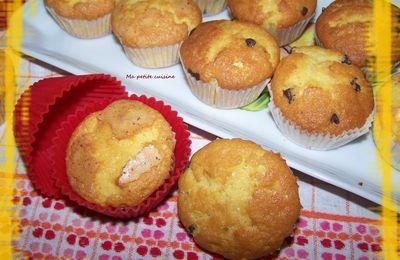 Madeleines ou muffins aux 2 chocolats (recette espagnole)