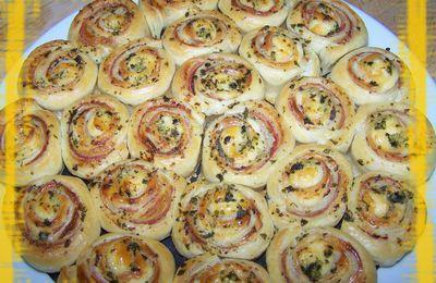 Fleur d'escargots feuilletés jambon fromage ail et persil