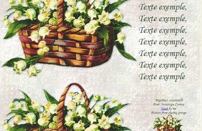 Muguet Panier de Incredimail & outlook & Papier A4 h l & enveloppe & 2 cartes A5 & signets 3 langues plus porte-bonheur fl_panier_de_muguets_cnay4sxa_00
