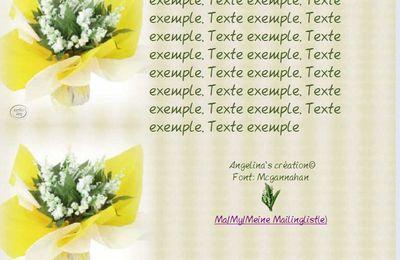 Muguet Incredimail & Papier A4 h l & outlook & enveloppe & 2 cartes A5 muguet_fond_clair