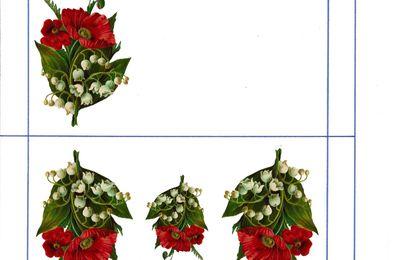 Enveloppes 3 formats Muguet et Pavot (muguets22)