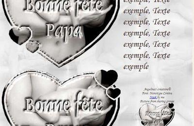 Bonne fête Papa Slat coeur Incredimail & outlook & A4 h l & enveloppe & 2 cartes A5 & signets bonne_fete_papa_papa_bebe_6y0zhcfw_00