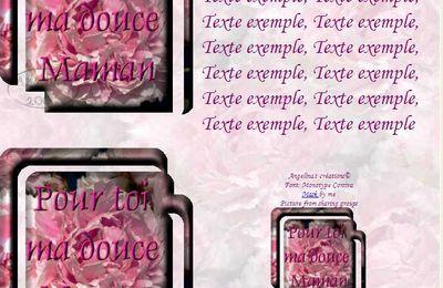 Pour toi ma douce Maman Incredimail & outlook & Papier A4 h l & enveloppe & 2 cartes A5 & signets pour_toi_ma_douce_maman_peonie
