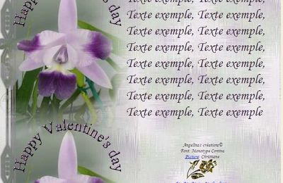 Happy Valentine's day Orch lc mini purple Incredimail & Papier A4 h l & outlook & enveloppe & 2 cartes A5 & signets   happy_valentines_day_orch_lc_mini_purple_x_intermedia_2_00