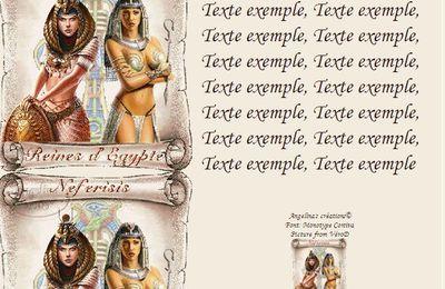 Egypte Reines d'Egypte Neferisis Incredimail & Papier A4 h l & outlook & enveloppe & 2 cartes A5 & signets 3 langues     egypte_deux_fem4_verod_00_anime
