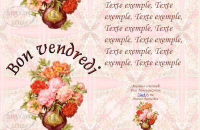 Bon vendredi Pivoines Incredimail & outlook & Papier A4 h l & enveloppe & 2 cartes A5 & signets  bon_vendredi_peonies05_dhedey_00