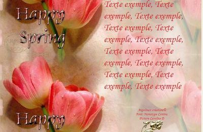 Happy Spring Tulipes Incredimail & Papier A4 h l & outlook & enveloppe & 2 cartes A5 happy_spring_tulipes_flowers_01ff