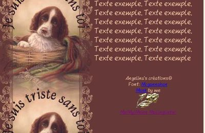 Je suis triste sans toi (Chien) Incredimail & Papier A4 h l & outlook & enveloppe & 2 cartes A5 & signets  je_suis_triste_sans_toi_chien_john_silver4