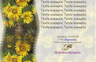 Tournesols peinture Incredimail & Papier A4 h l & outlook & enveloppe & 2 cartes A5 & signets 3 langues    tourn_029