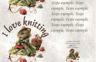 I love knitting veramouse tricot IM & Papier A4 h l & outlook & enveloppe & 2 cartes A5 & signets ilove_knitting_veramouse_tricot_00