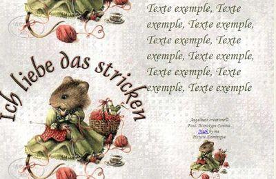 Ich liebe das stricken veramouse Incredimail & Papier A4 & outlook & enveloppe & 2 cartes A5 & signets ich_liebe_veramouse_tricot_00