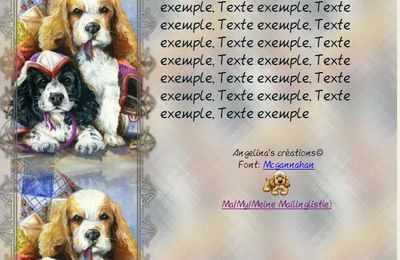 Chiens Incredimail & Papier A4 h l & outlook & enveloppe & 2 cartes A5 & signets 3 langues      chien_11english_large