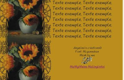 Tournesols dans vase Incredimail & Papier A4 h l & outlook & enveloppe & 2 cartes A5 & signets 3 langues    sunflowers7