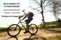 'LA MARTARAISE' 4ème Rando VTT - Marigny les Usages - 29 Octobre 2017