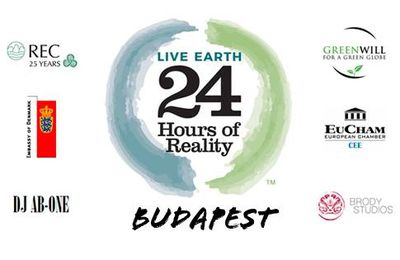 """Rassemblement """"24 hours of Reality"""" (COP21) à Budapest"""