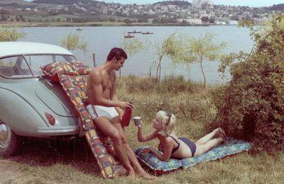 Le Balaton en 1969 dans une publicité pour un matelas gonflable