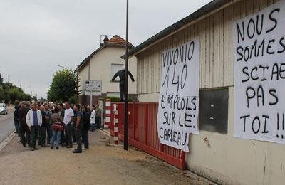 Les salariés de la SCIAE en grève