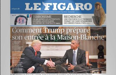 Le Dessous Des Toiles : Le Figaro (couverture du 11/11/2016)