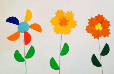 Gommettes en fleurs (et fleurs en gommettes) : c'est le printemps (avec les enfants de moyenne section de maternelle)