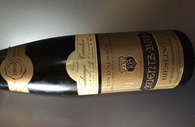 Alsace Riesling cuvée Caroline vendange tardive 1989 Kuentz-Bas
