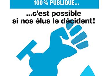 OUI à une eau 100 % publique et moins chère à Saint-Denis !