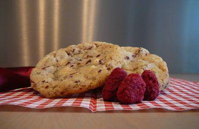 Cookies framboises et chocolat blanc