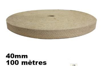 sangle jute extra forte en 40mm rouleau de 100 metres prix 39€ port possible colissimo+3.50€ ... en stock 1000 metres