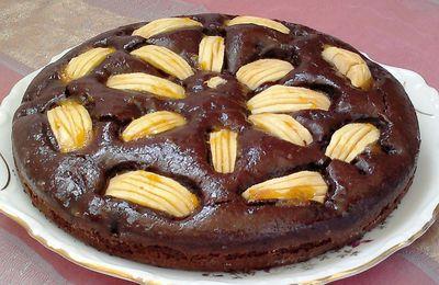 Gâteau aux pommes et chocolat